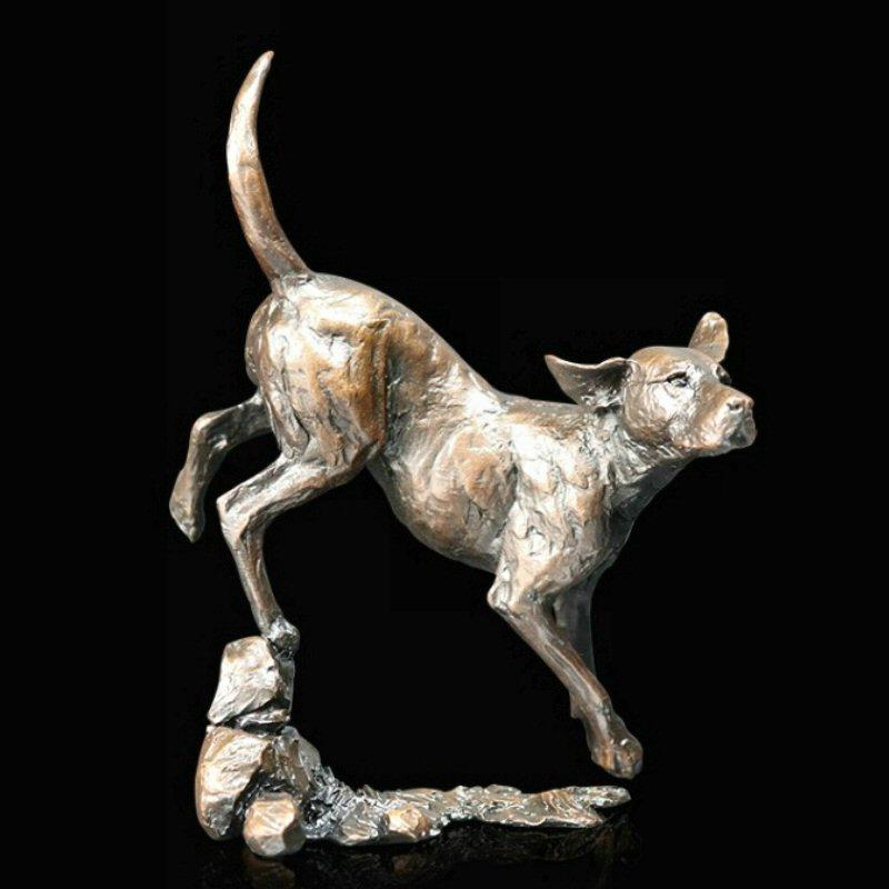Foxhound - Bronze Dog Sculpture - Michael Simpson - 1050