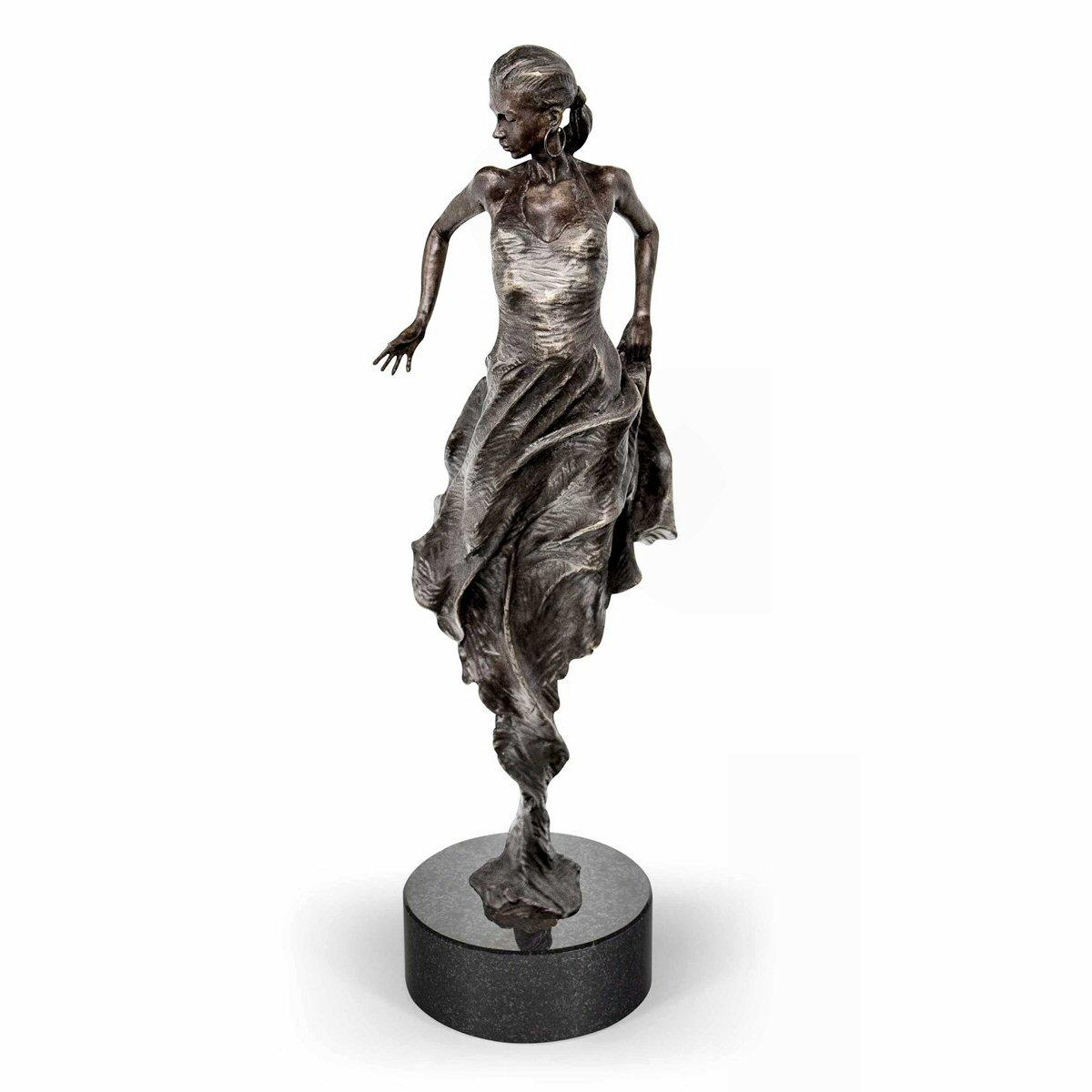 Flamenco Dancer - Bronze Sculpture by Carl Payne - DeMontfort SPAC036