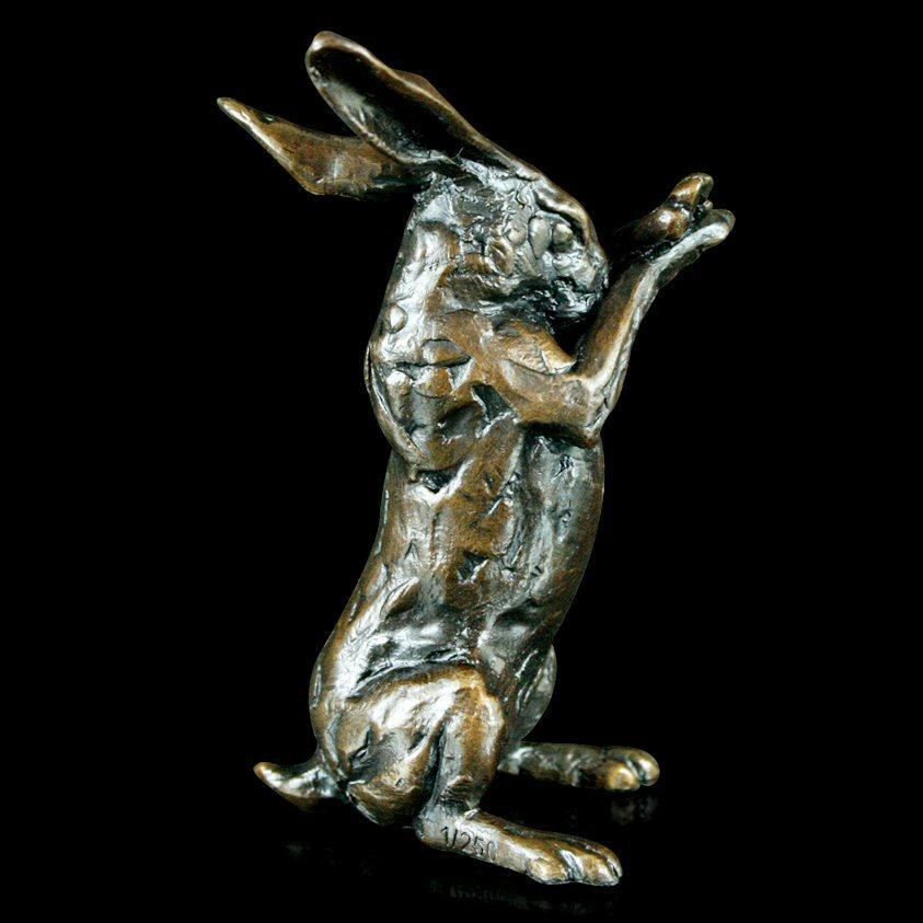 Hare Preening - Bronze Sculpture - Michael Simpson - 353