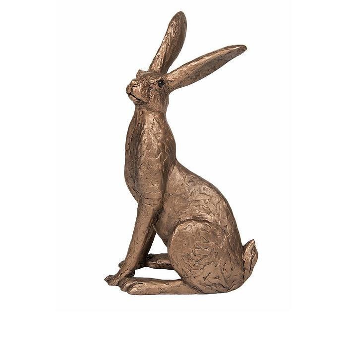 Tobias - Sitting Hare - Bronze Sculpture - Thomas Meadows TM070
