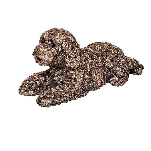 Teddy the Labradoodle - Bronze Dog Sculpture - Adrian Tinsley AT047