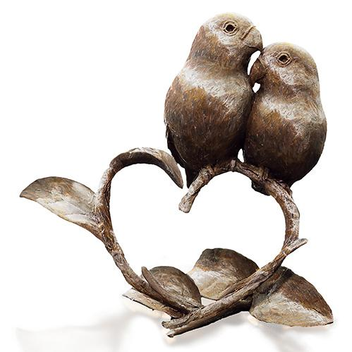 Lovebirds by Michael Simpson - Bronze Bird Sculpture - 1141