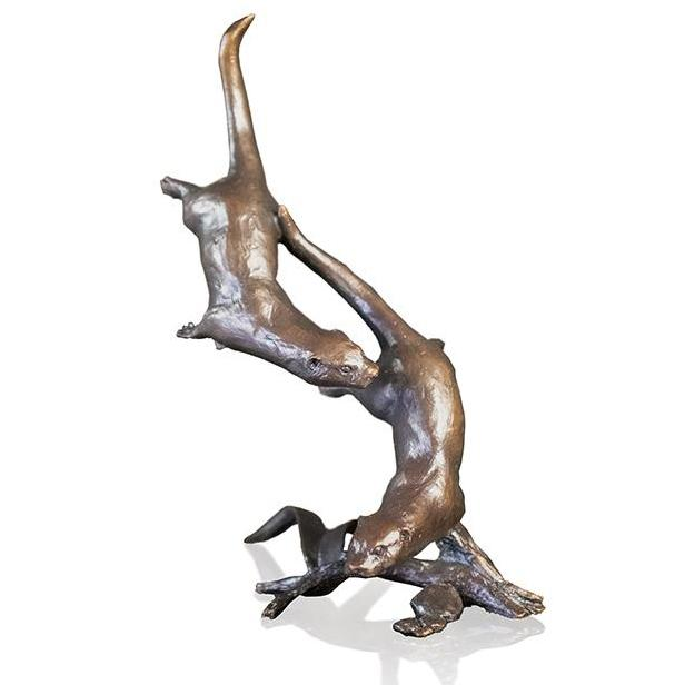 Otters Swimming by Michael Simpson - Bronze Sculpture - 1053