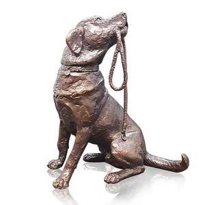 Labrador with Lead by Michael Simpson - Bronze Sculpture - Medium 1122