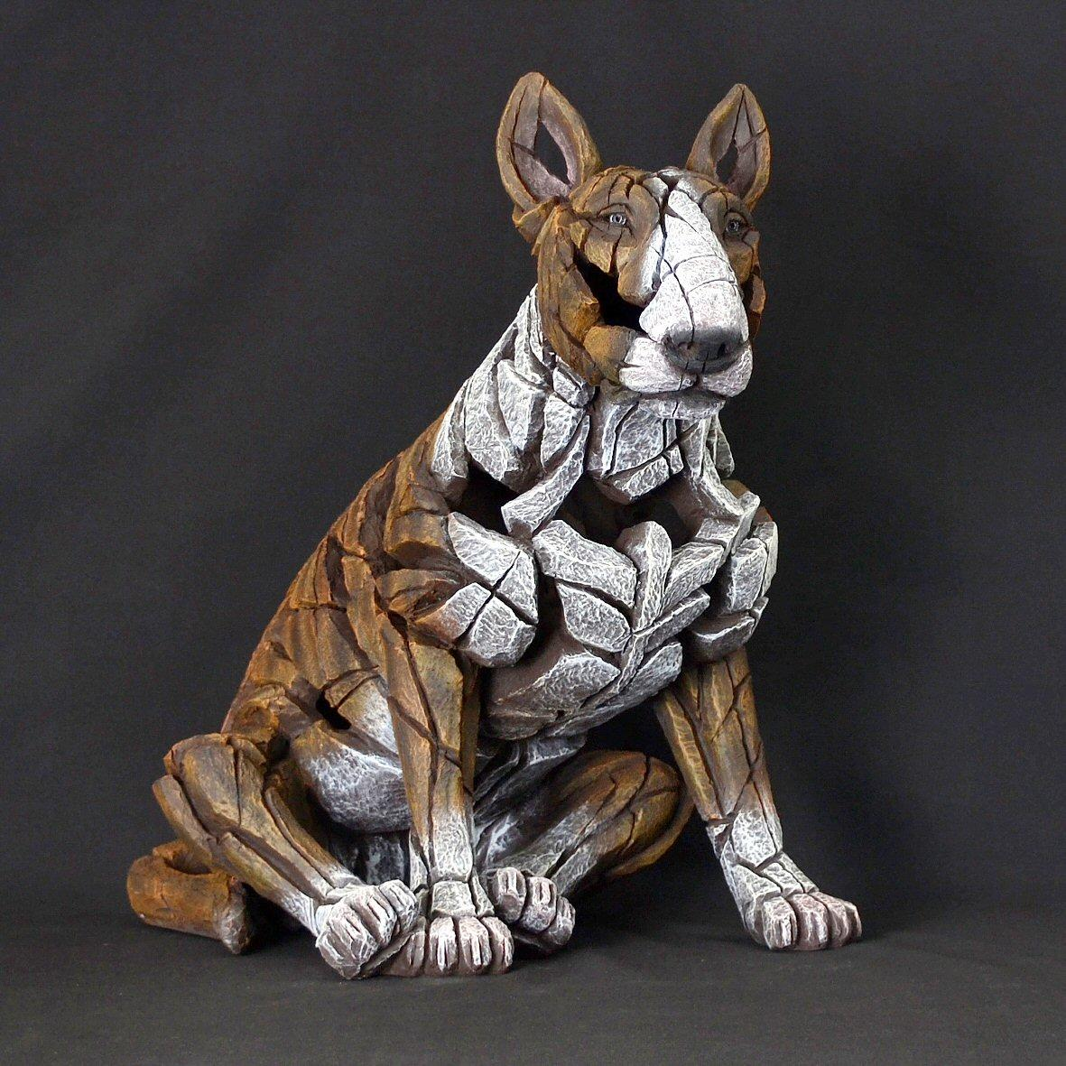 Bull Terrier Sitting - Brindle ED23B EDGE by Matt Buckley
