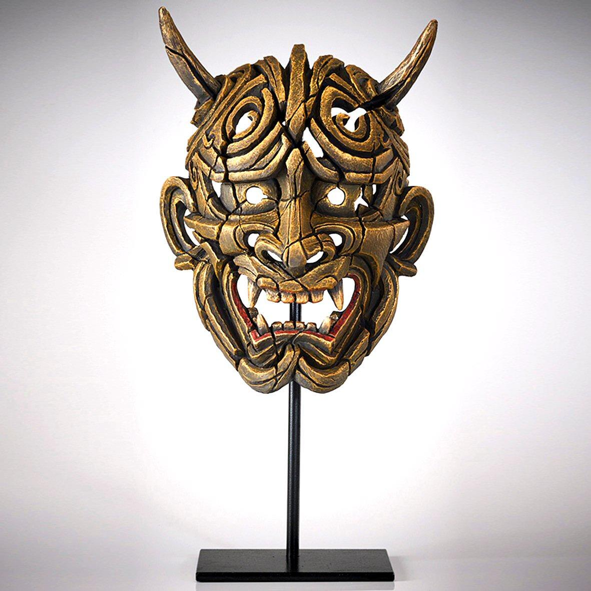 Japanese Hannya Mask - Netsuke Gold EDM01G EDGE by Matt Buckley