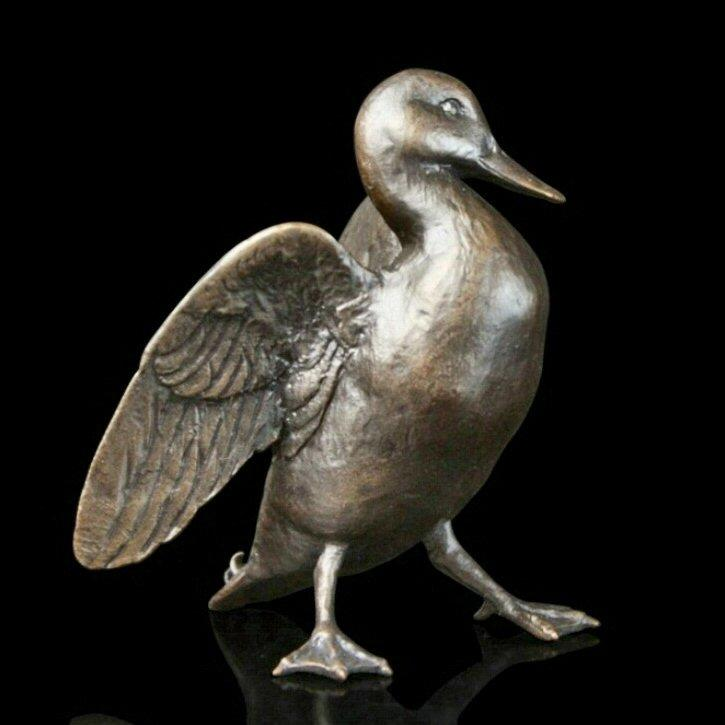 Mallard (533) in bronze by Michael Simpson