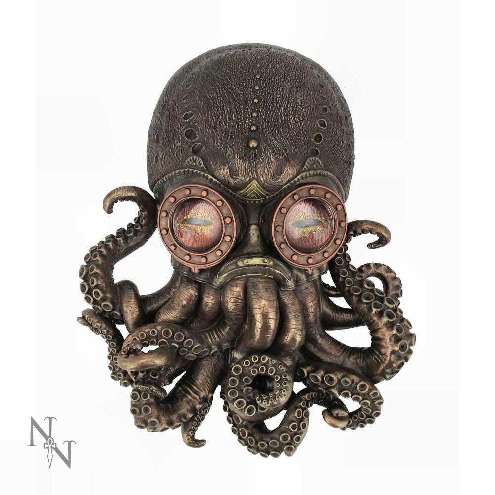 Bioctopus (d2948h7) - steampunk sculpture