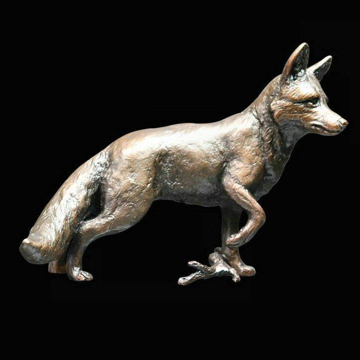 Fox Standing - Bronze Sculpture - Keith Sherwin - 1047