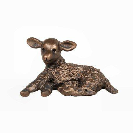 Lara - New Born Lamb - MINIMA Bronze Sculpture Veronica Ballan VBM012