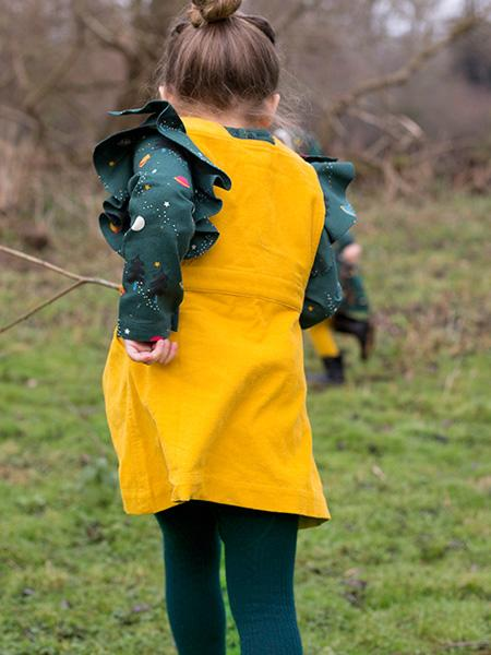 Little Green Radicals Gold Pinafore Dress
