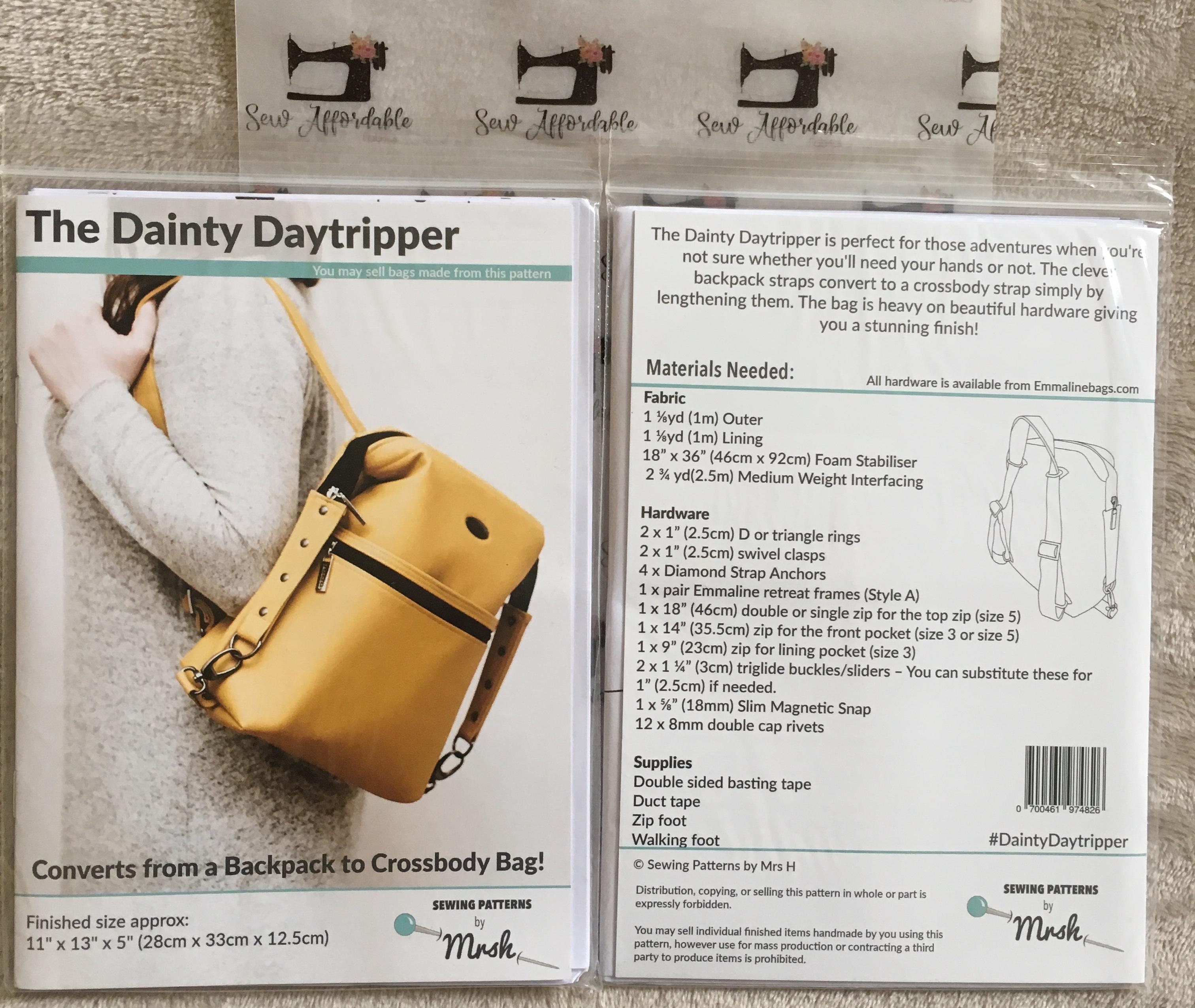 Quilted Carpet Bag Pattern | Brydens Xpress