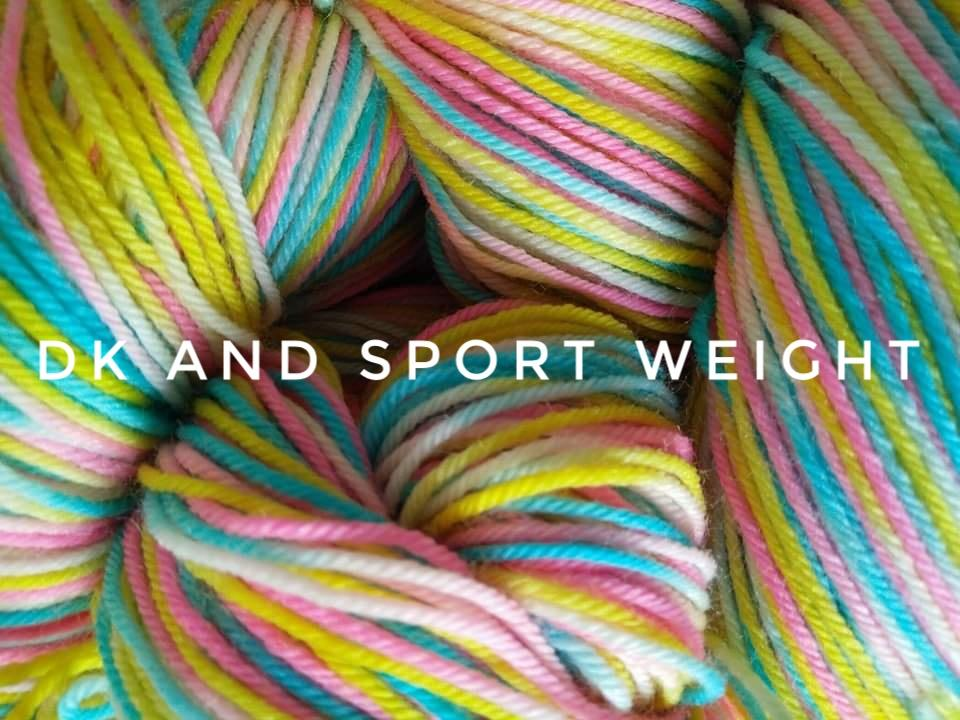 Dk and sport weight yarn