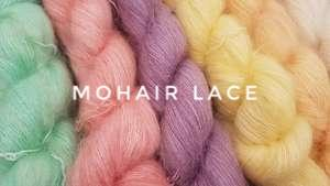 Kid mohair lace weight fluff