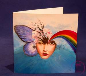 'Empyreal' Greetings Card by Bernice Benton