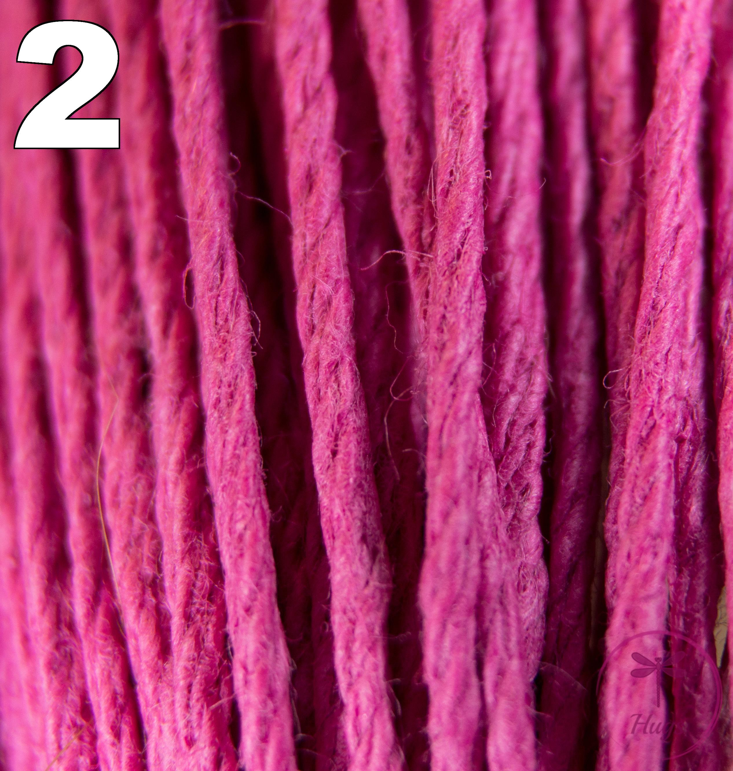Dark Fuschia Pink Hemp Cord