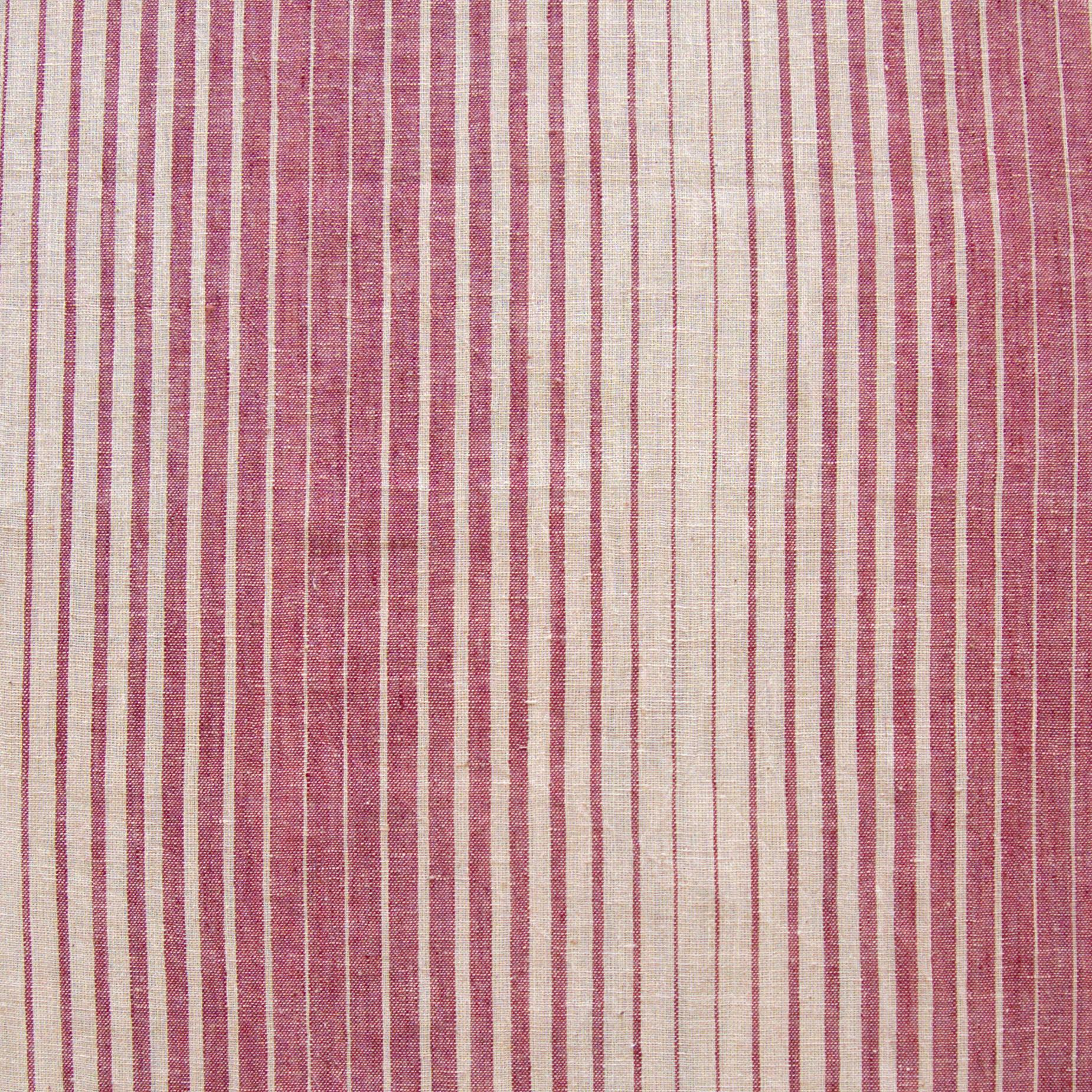 Organic Kala Cotton - Handloom Woven - Natural Dye - Red Aal Root - Fading Stripes - One By One - Flat