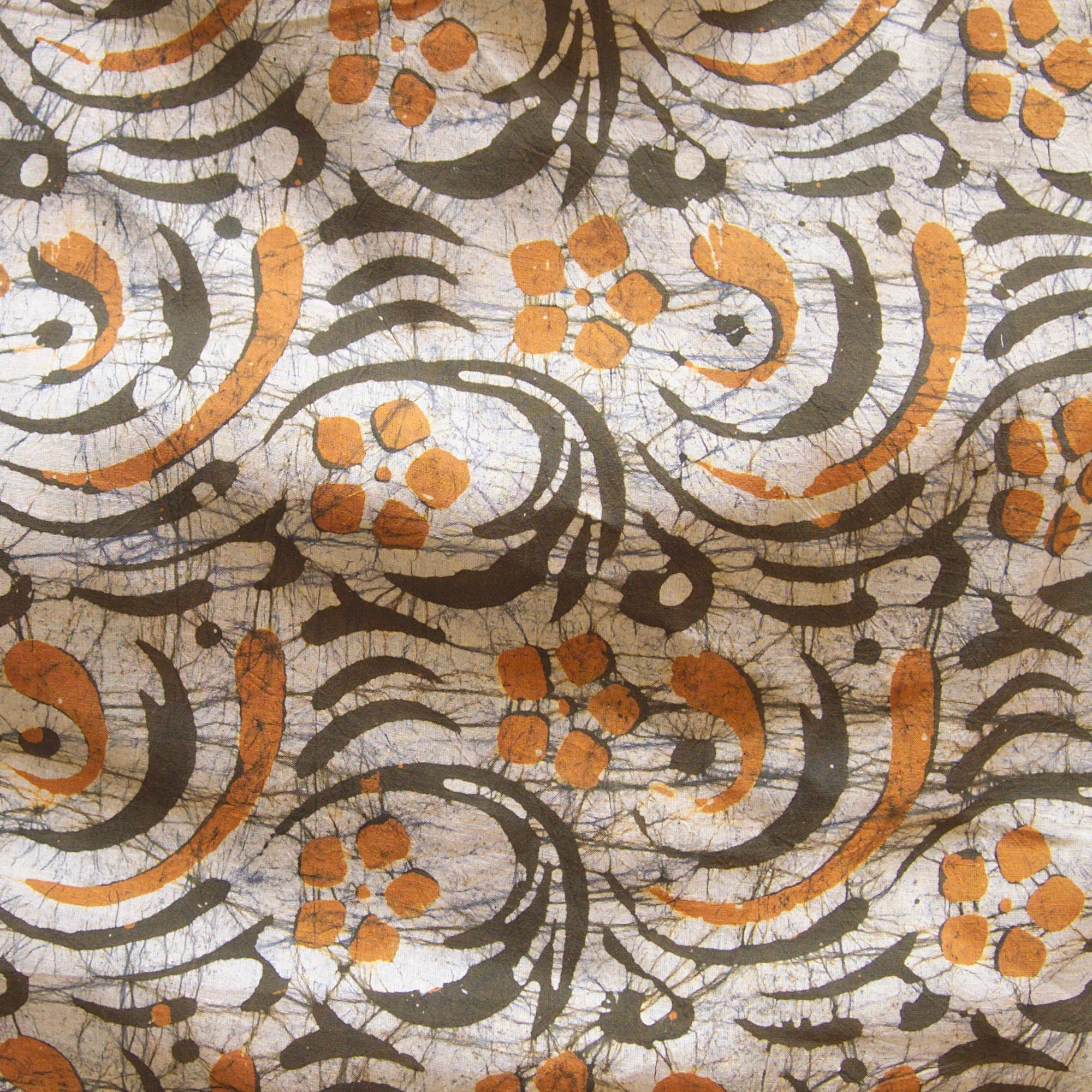 1 - SHA18 - 100% Block-Printed Batik Cotton Fabric From India - Stirred Not Shaken Motif - Contrast - Live