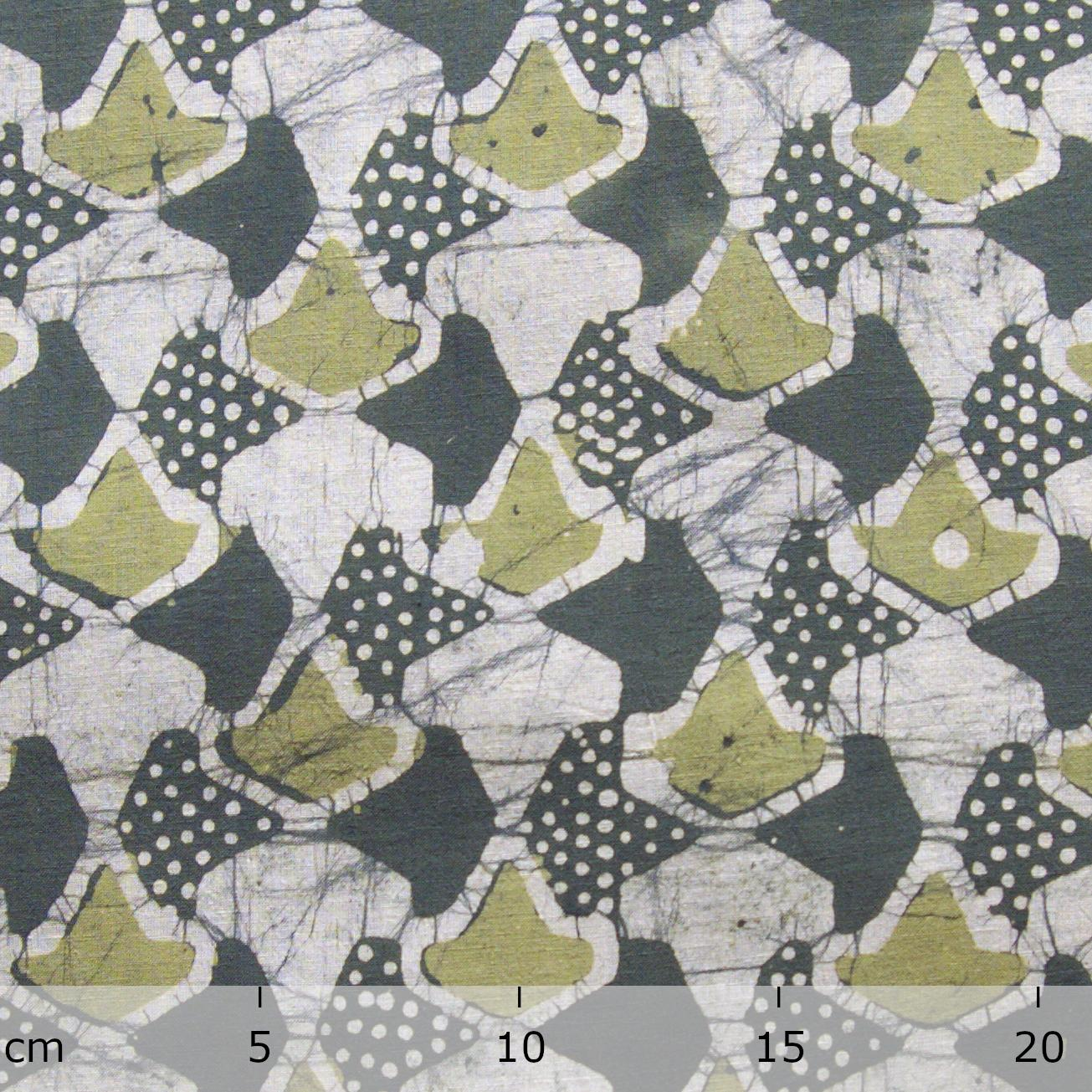 4 - SHA26 - 100% Block-Printed Batik Cotton Fabric From India - Sea Sponge Motif - Ruler