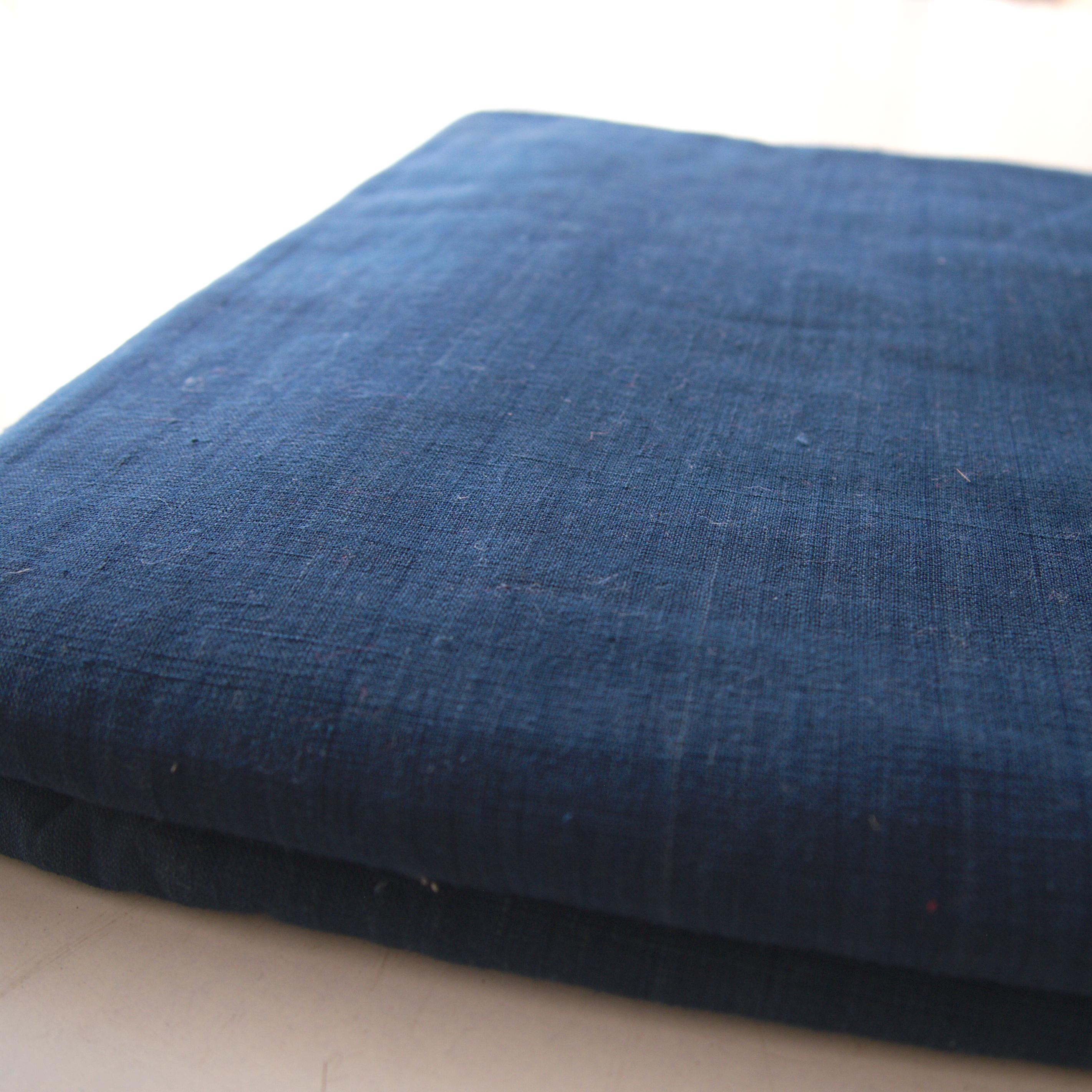 100% Handloom Woven Cotton - Natural Dark Indigo Warp & Warp - Bolt