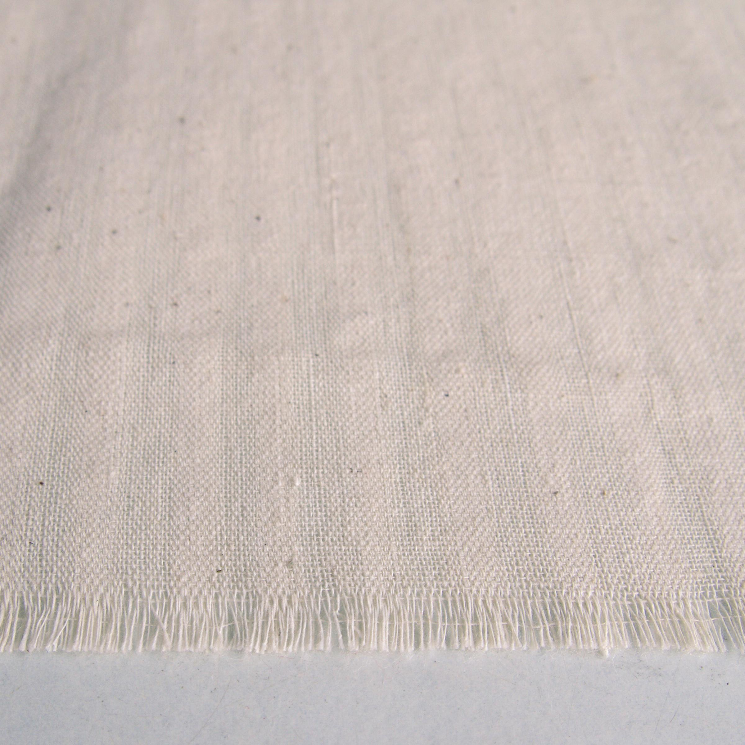 100% Handloom Woven Cotton - Dented Weave - White Dented Warp & Warp - Close Up