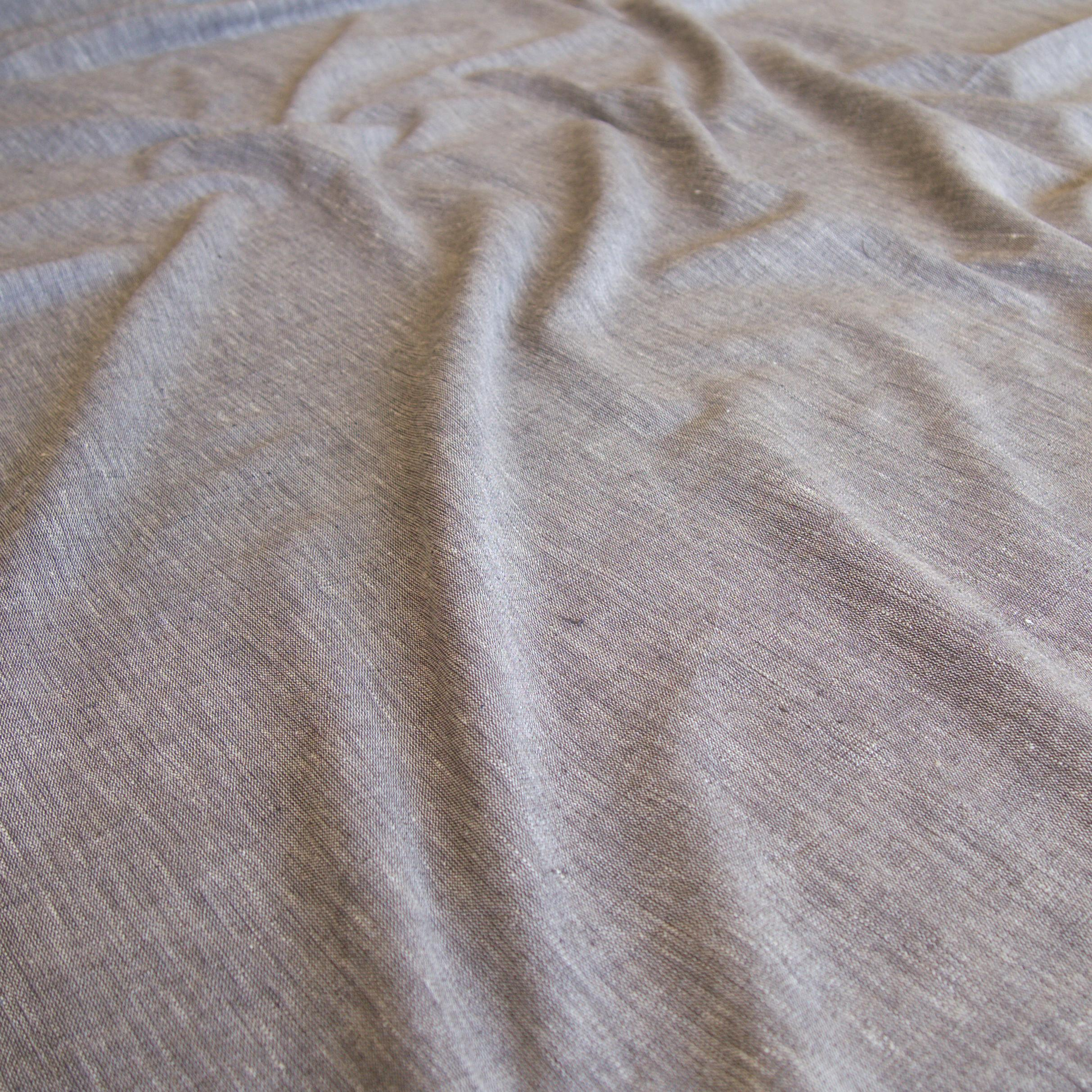 Organic Kala Cotton - Handloom Woven - Natural Dye - Charcoal Black - Shot Cotton - One By One - Contrast