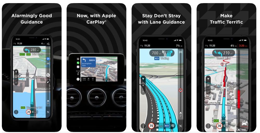 TomTom Release's Apple CarPlay App update ahead of WWDC 2019