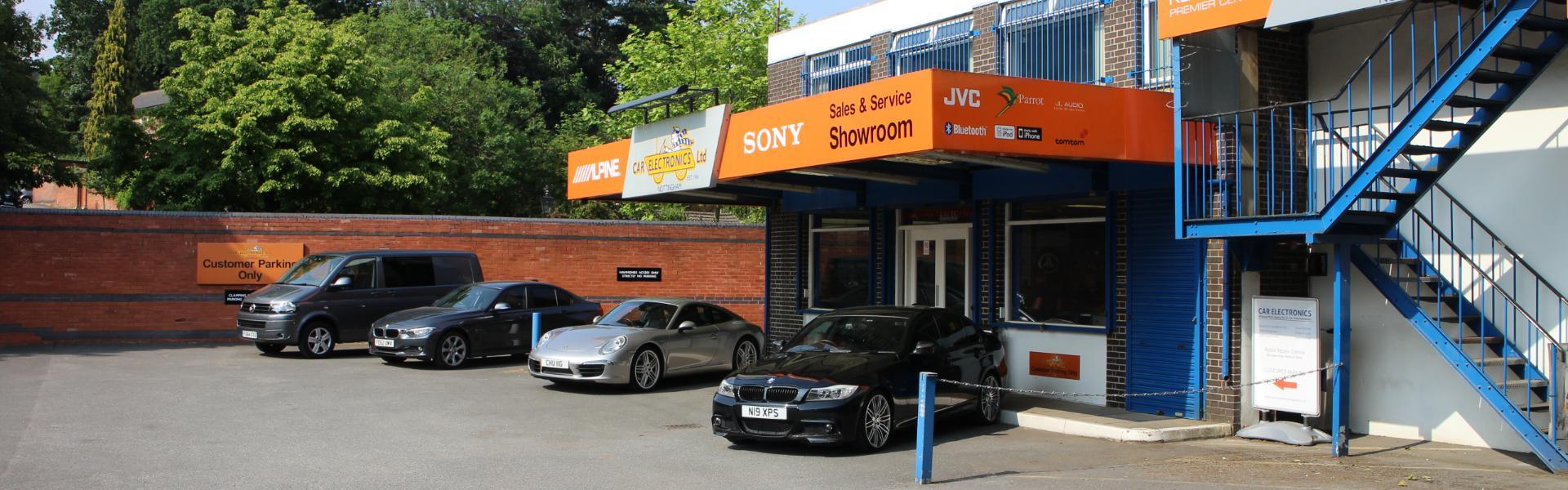 car electronics nottingham shop front