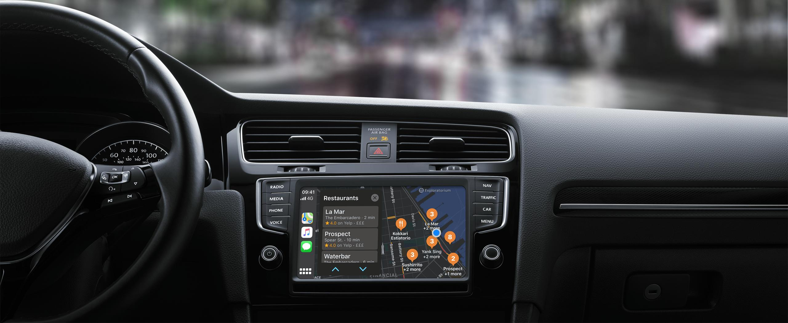apple CarPlay installation nottingham apple maps