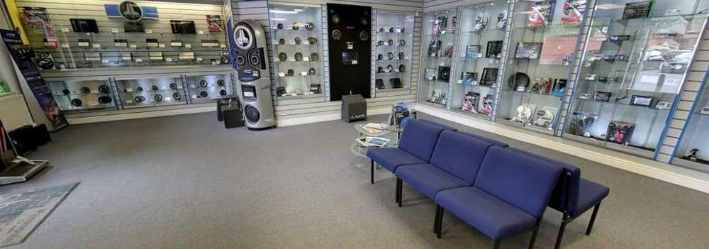car electronics showroom