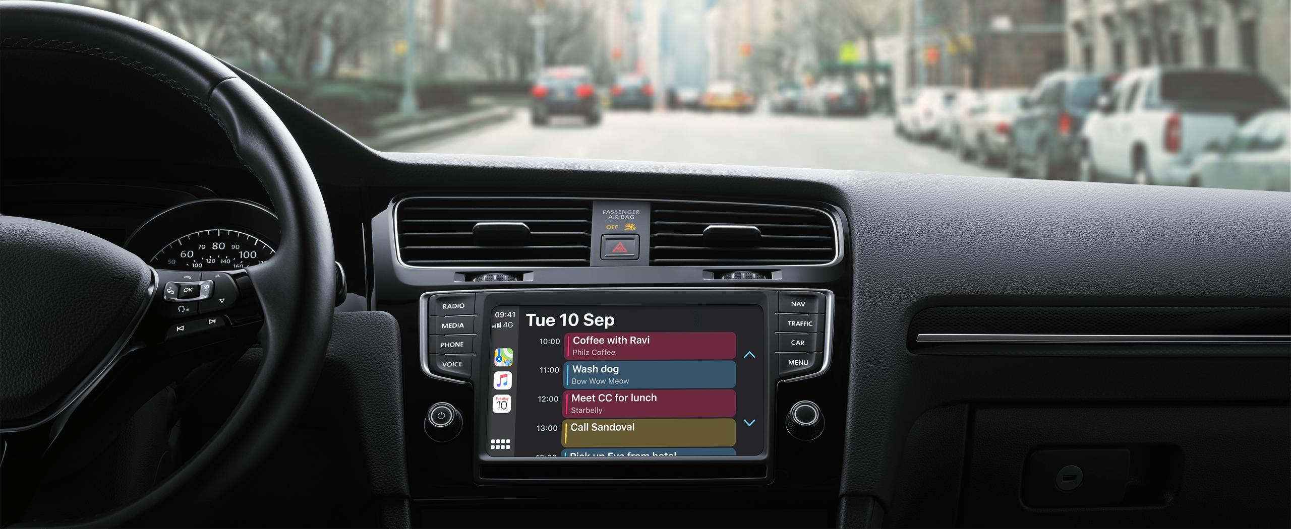 apple CarPlay calendar app
