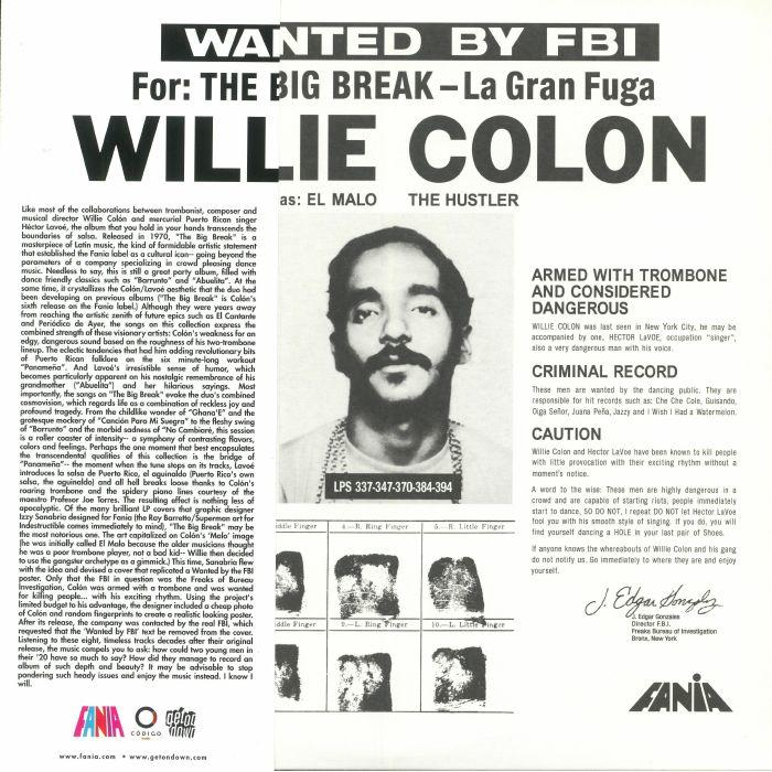 Willie Colon - Wanted By The FBI