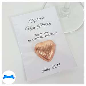 Personalised hen party Rose gold Favours