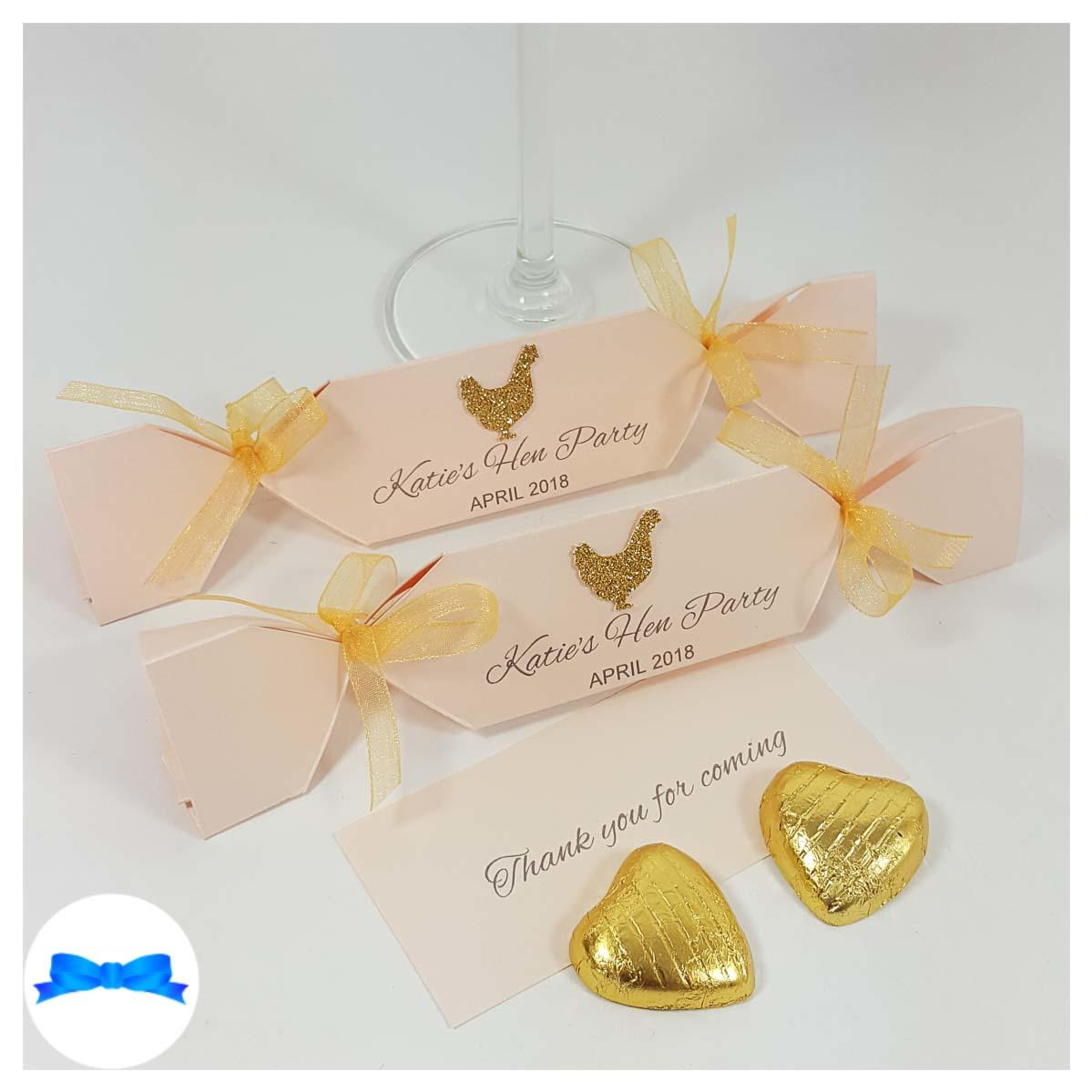 Pearl Peach card small hen party crackers