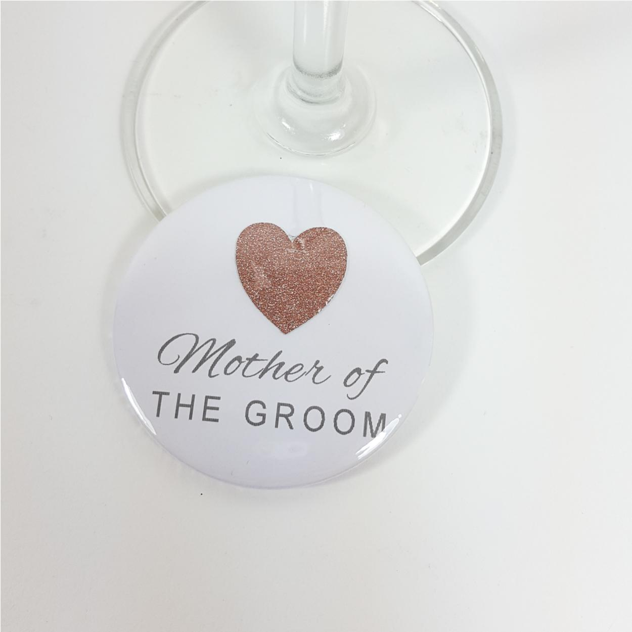 Mother of the groom rose gold hen party badge