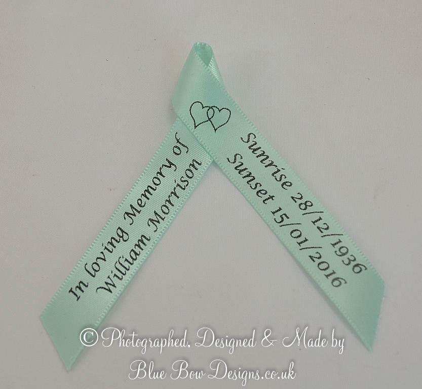 Mint green memorial ribbon