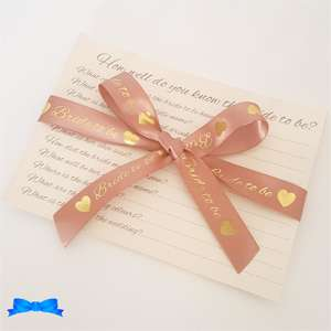 How well do you know the bride cards with rose gold ribbon