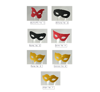 All wine glass place cardsmasks