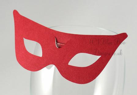 No.4 Cairo wine glass place card for wine glass masquerade