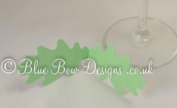 Spring green oak leaf shaped place cards