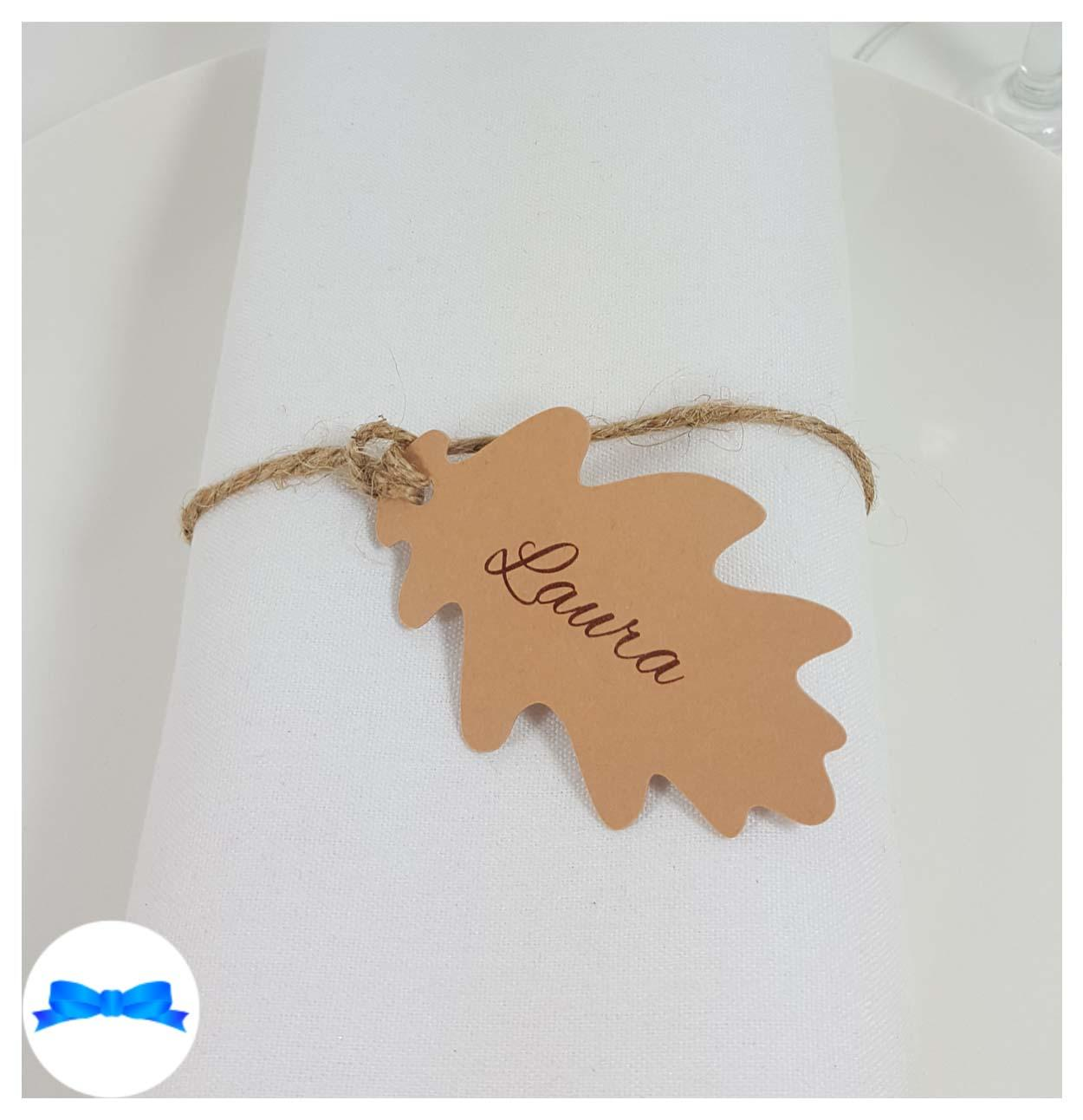 Kraft Oak leaf tags