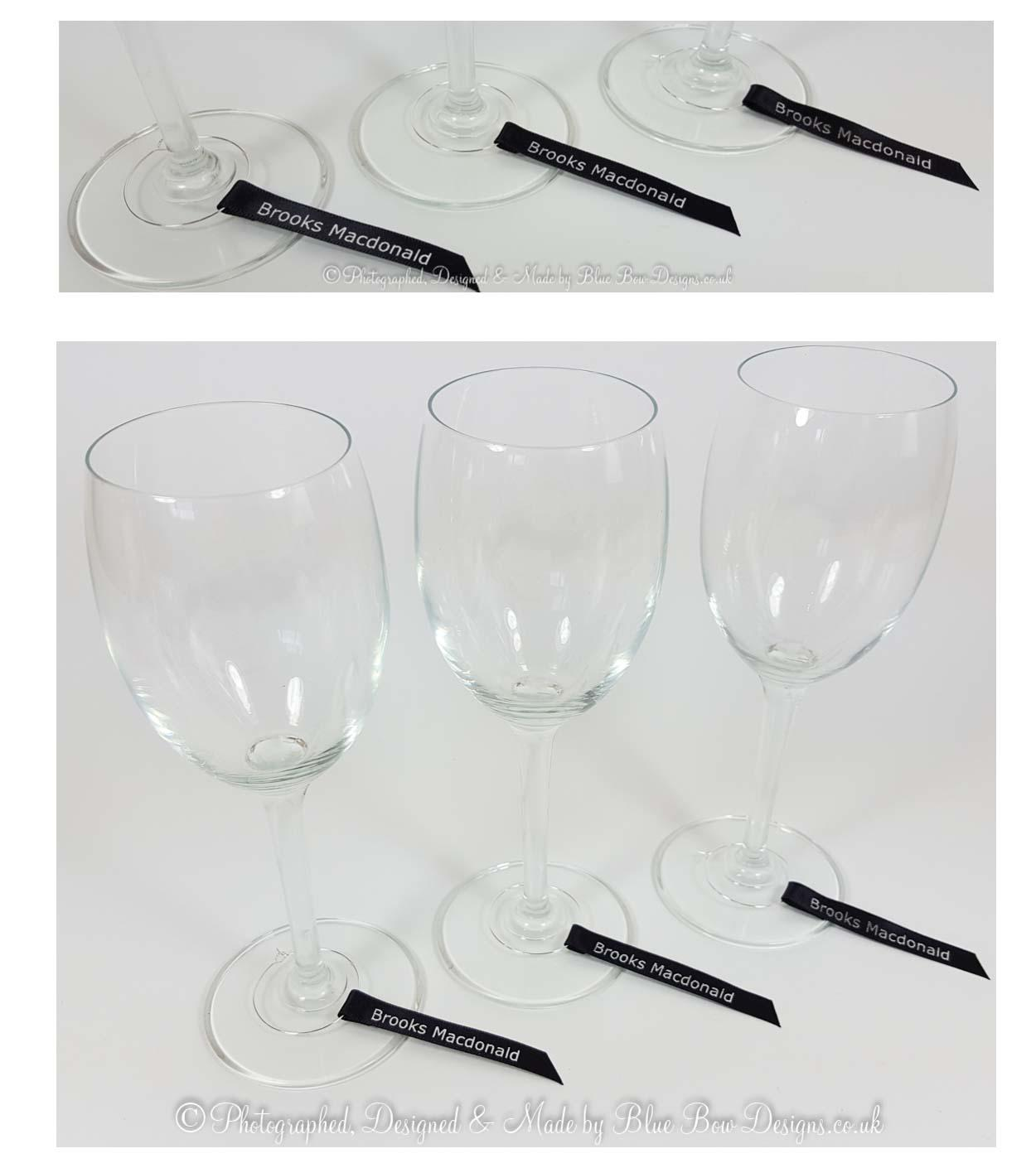 Black wine glass ribbons