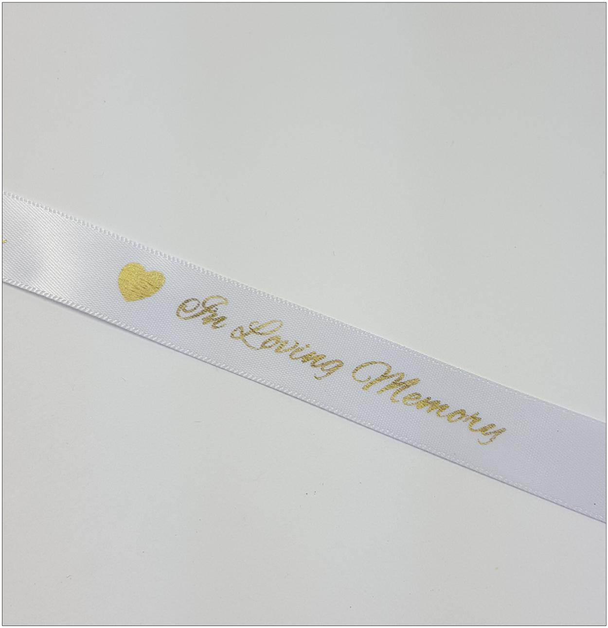 In Loving memory Funeral Ribbon