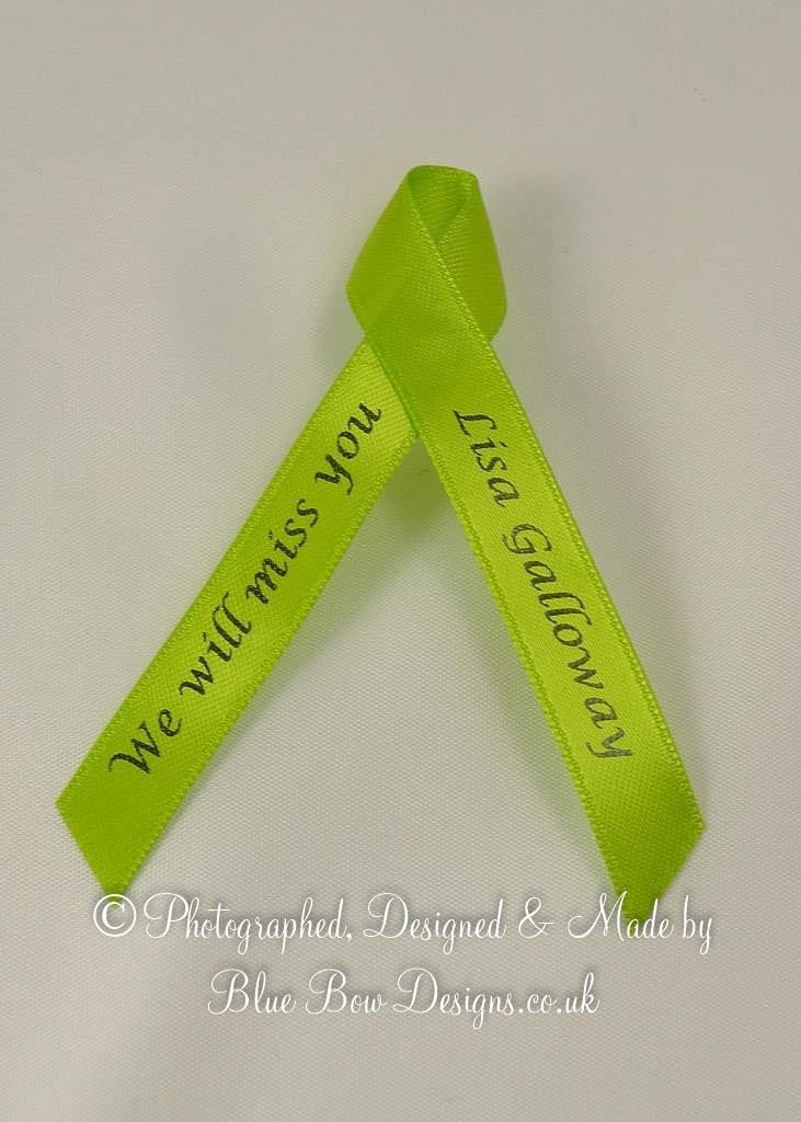 Green memorail ribbon