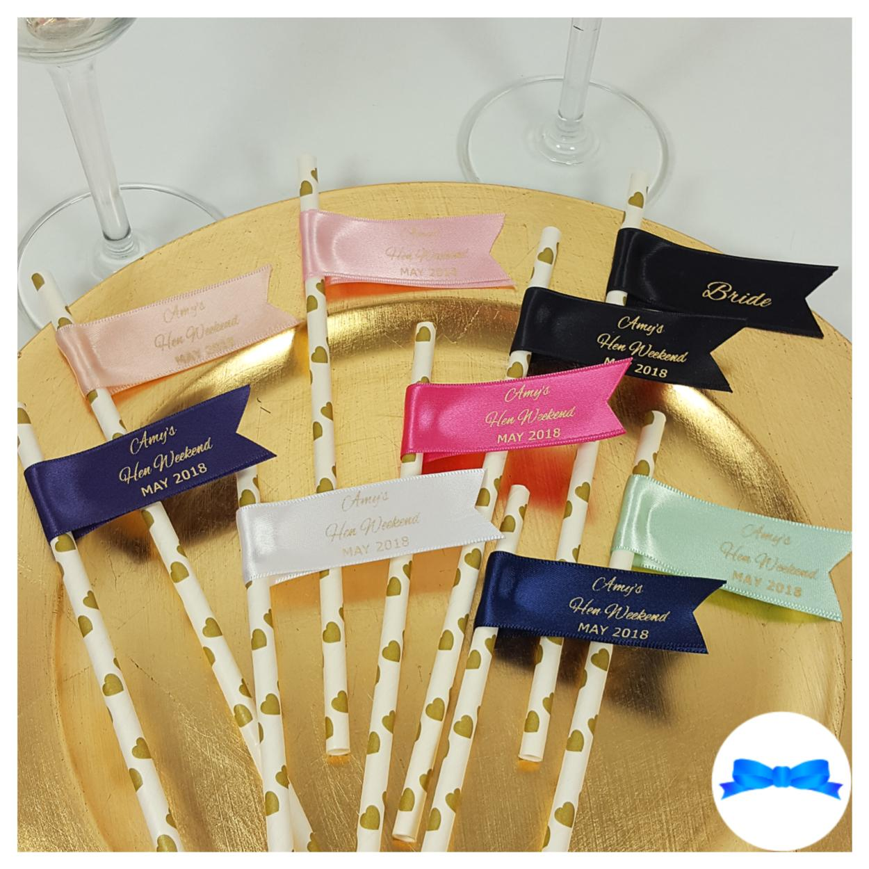 Hen party personalised straws