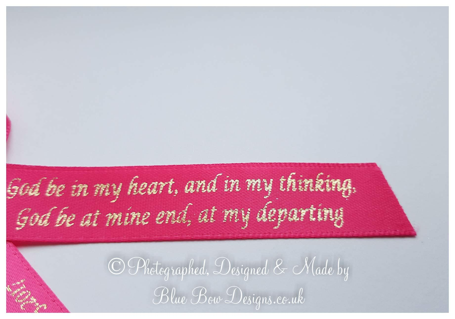 Fuchsia pink memorial ribbons