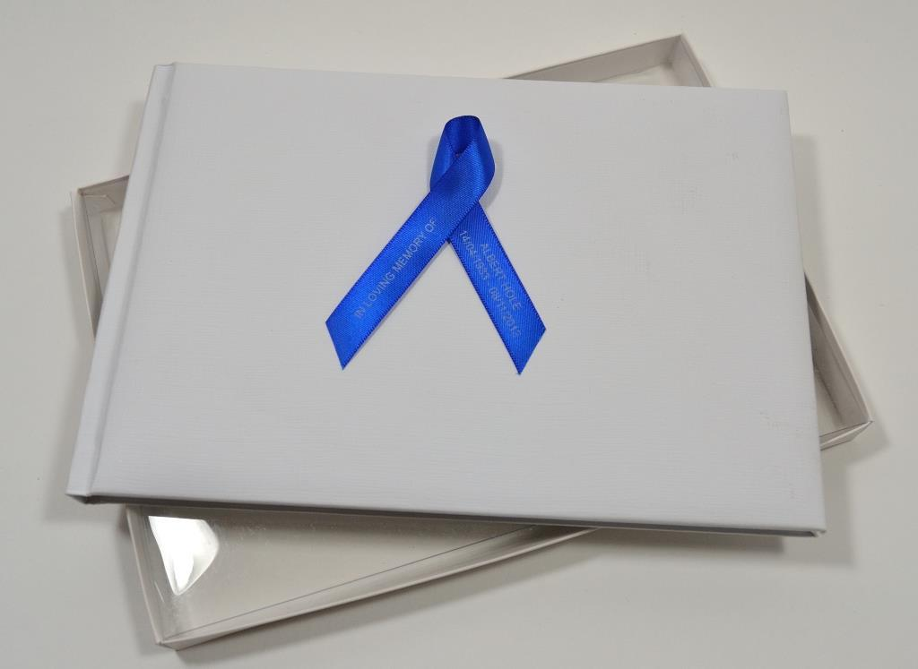 Memorial ribbon book and box