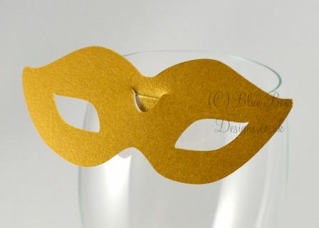 No. 7 Milan  wine glass place card for wine glass masquerade