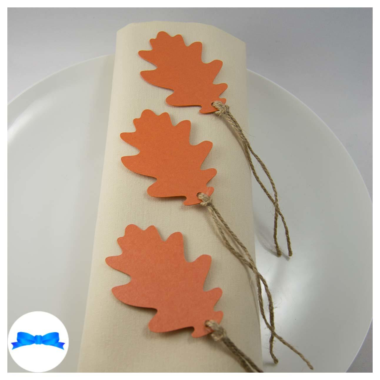 Burnt orange oak leaves - Tags