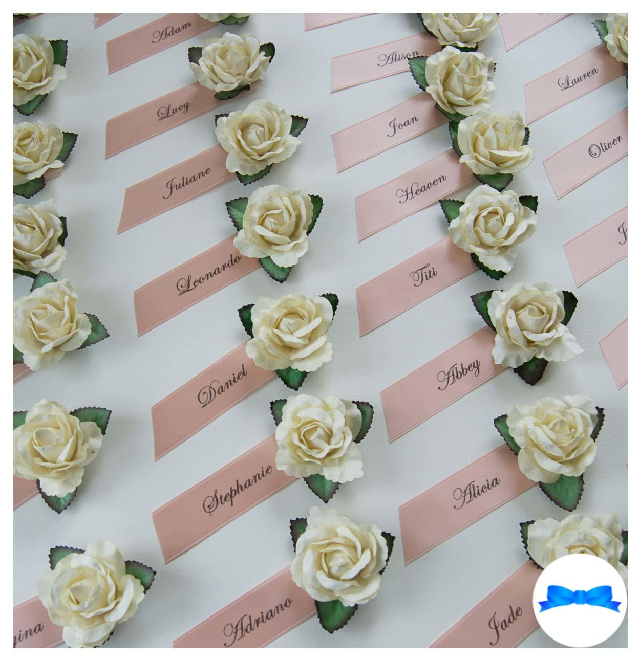 Personalised guest name roses